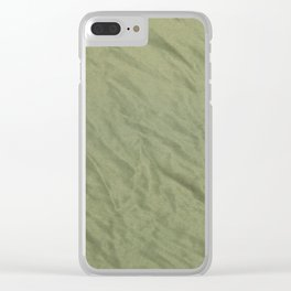 Crushed Tulle, green Clear iPhone Case
