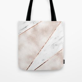 Spliced rose gold marble Tote Bag