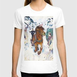Galloping Horse by Edvard Munch T-shirt