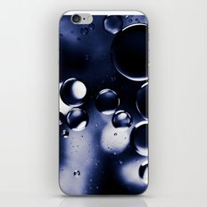 deep purple blue tones macro water droplets iPhone & iPod Skin