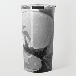 Burn The Flowers for Fuel Grey Travel Mug