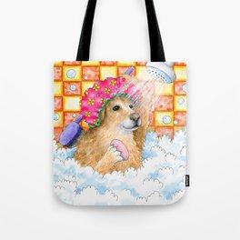 Dog 129 Funny Golden Retriever Tote Bag
