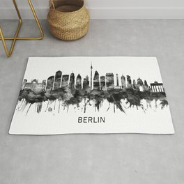 Berlin Germany Skyline BW Rug