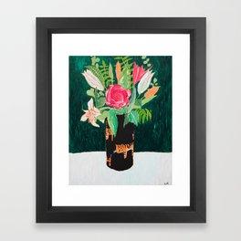 Tiger Vase Framed Art Print