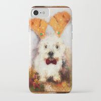 westie iPhone & iPod Cases featuring Merry Christmas Happy Holiday Westie by Ginkelmier