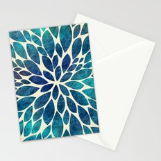 Petal Burst - Turquoise Stationery Cards