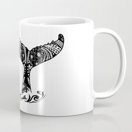 Vintage Lahaina Tribal Whales Tail Coffee Mug