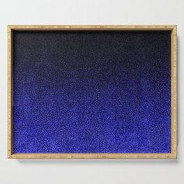 Blue & Black Glitter Gradient Serving Tray