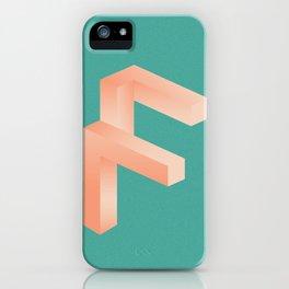 Futuristic F iPhone Case