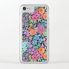 Floral watercolor pattern Clear iPhone Case