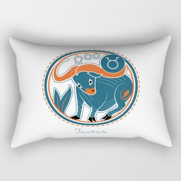 Taurus Zodiac Sign Rectangular Pillow
