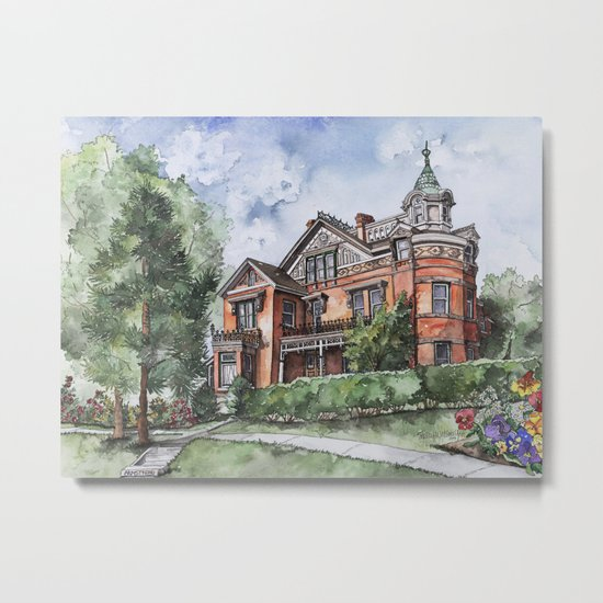 Armstrong Mansion Metal Print
