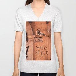 Valencia Tags, Wild Style Unisex V-Neck