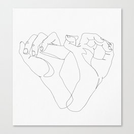 minimalist hand drawing Canvas Print