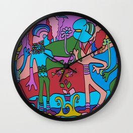 World Dance - We are all One World Wall Clock