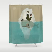 posters Shower Curtains featuring we are pirates too by bri.buckley