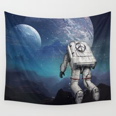 Searching Home Wall Tapestry