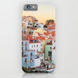 Lisbon sunset iPhone Case
