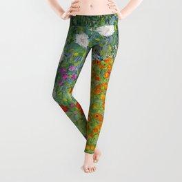 Flower Garden - Gustav Klimt Leggings