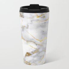 Italian gold marble Metal Travel Mug