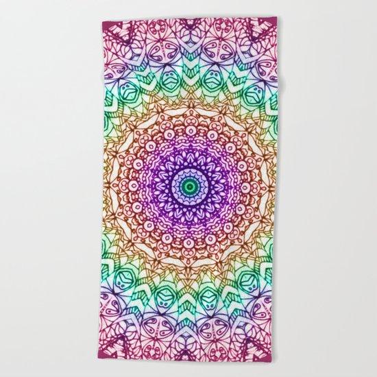 Mandala Mehndi Style G379 Beach Towel