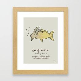 Capricorn V2 Framed Art Print