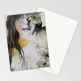 One Second II (autumn nude goddess erotic portrait) Stationery Cards