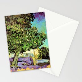 Vincent van Gogh : Blossoming Chestnut Tree 1887 Stationery Cards
