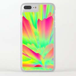screen Random images shadow green yellow rainbow light Clear iPhone Case