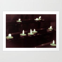 split toning candels Art Print