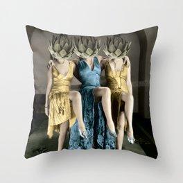Artichoke pin ups Throw Pillow