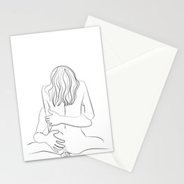 sensual couples Stationery Cards