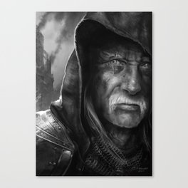Tired Old Man Canvas Print