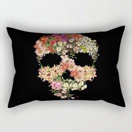 Skull Floral Decay Rectangular Pillow
