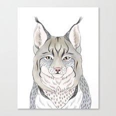 Woodlands lynx Canvas Print