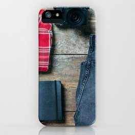Get ready for the trip. Man edition iPhone Case