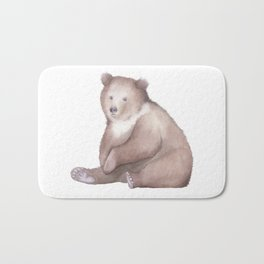 Bear Watercolor Bath Mat