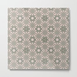 Mandalic Storm Mirror Pattern 4 Metal Print