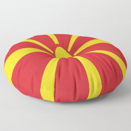 Flag of Macedonia - Macedonian,skopje,Bitola,Kumanovo,Prilep,Balkan,Alexander the great,Karagoz,red Floor Pillow