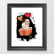 Bunny is the best gift Framed Art Print