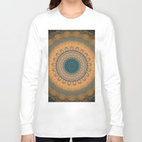 bohemian Long Sleeve T-shirts featuring Bohemian Orange by Jane Lacey Smith