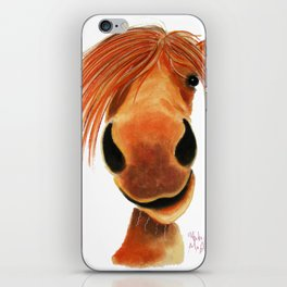 Happy Horse ' GINGER NUT ' by Shirley MacArthur iPhone Skin