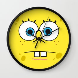 Spongebob Surprised Face Wall Clock