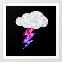 bisexual Art Prints featuring Bisexual Storm Cloud by Casira Copes