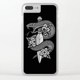 Snake & Dagger Clear iPhone Case