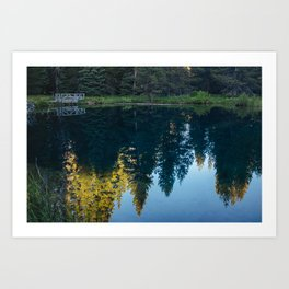 Little Crater Lake 2 Art Print