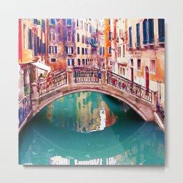 Small Bridge in Venice Metal Print