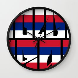 Golden Heart Hawaii Wall Clock