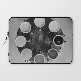 Coffee Circle (Black and White) Laptop Sleeve
