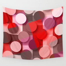 dots & squares red Wall Tapestry